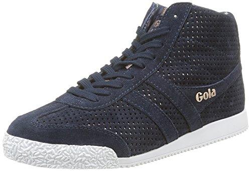 Gola Harrier High Glimmer Suede, Sneaker Alte Donna Blu (Blau (Navy/Rose Gold))