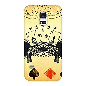 Premium Guns And Cards Back Case Cover for Galaxy S5 Mini
