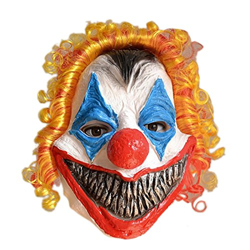 Pinji Halloween Latex Clown Maske Bunte Kopfmaske Cosplay Party Dekoration