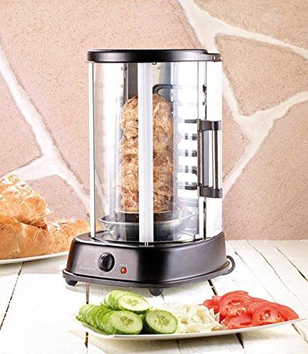Grill pour kebab et brochettes avec vitre - 1500 W