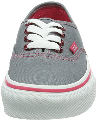 Vans K Authentic, Baskets mode mixte enfant Noir (Monument/Azalea)