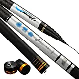 Canna da Pesca 8-15 Metri, Letto Comodo Portatile Retrattile in Fibra di Carbonio Ultra Leggera (Dimensioni : 8)