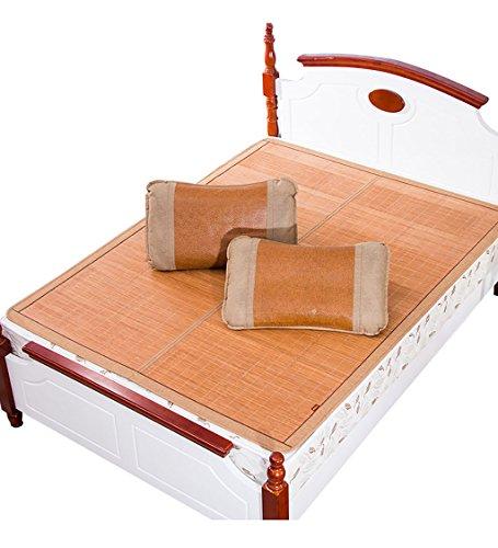 Utilisation double face tapis de lit --- Tapis de lit pliable Supercool Literie Matelas en bambou Matelas tissé Utilisation double face pour l'été - Twin / Full / Queen / King Size --- tapis de lit pliant en bambou naturel et en ro ( taille : 150*195cm )