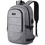 Anti-Theft Backpack, Business Travel Laptop Backpack Bag with Lock with USB Charging & Headphone Port, Water Resistant College School 15.6-17.3 Inch Computer Rucksack Work Backpack for Mens Womens