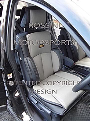 To Fit A Dodge Avenger, Car Seat Covers, Ys 01 Rossini Grey/Black, 2 Fronts