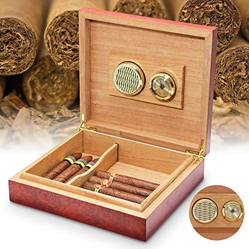 Sue-Supply Caja cigarros Higrómetro Redondo Analógico