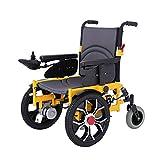 MinMin Elektrischer Rollstuhl, Vorgänger Dämpfung Klappbarer tragbarer intelligenter Rollstuhl, behindertengerechter vierrädriger Roller ?? ? 85 * 68 * 91cm Medizinische Ausrüstung -