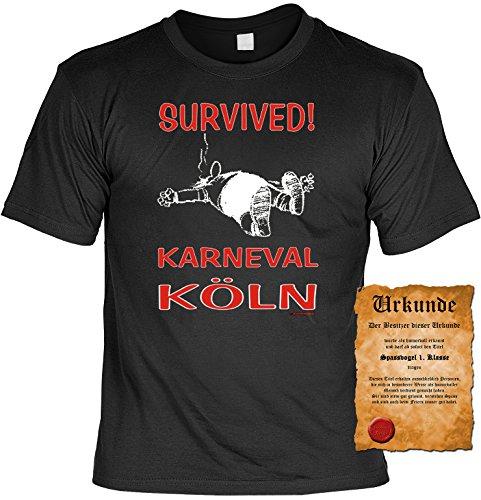 Witziges Karneval- Spaß-Shirt + gratis Fun-Urkunde: Köln Schwarz