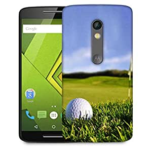 Snoogg Golf Ball Designer Protective Phone Back Case Cover For Motorola Moto X Play
