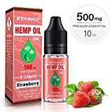 Hemp Oil Vape E Liquids-10ml,500mg,5%,Strawberry Flavor for Vape E Cigarettes Starter Kit SMOK