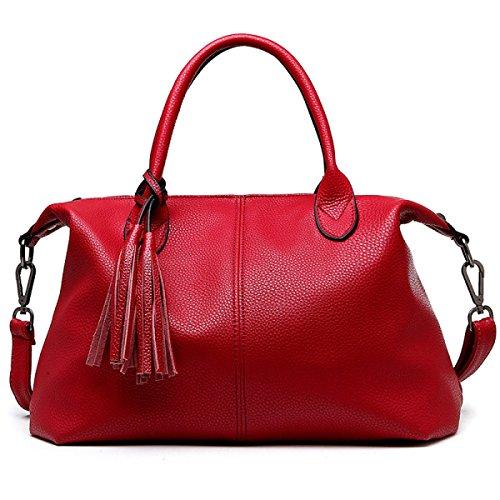 Europäische Und Amerikanische Mode-Lederhandtasche Umhängetasche Frau Messenger Bag red