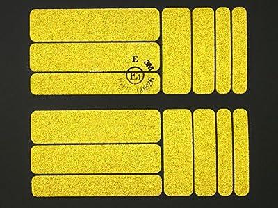 Aufkleber Set14 aus Reflexfolie 3M Scotchlite gelb