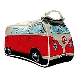 Volkswagen VW T1 Bus Kulturbeutel in rot