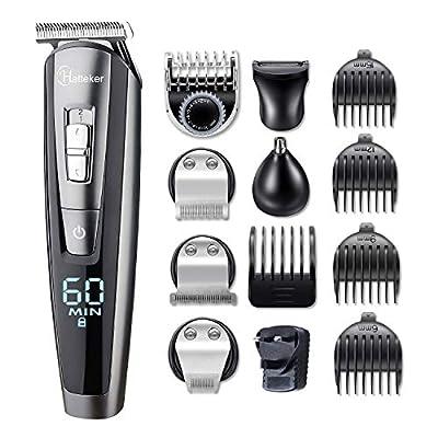 HATTEKER Beard Trimmer for Men Cordless Mustache Body Trimmer Hair Trimmer Groomer Kit Precision Trimmer Nose Hair Trimmer Waterproof USB Rechargeable 5 in 1 from HATTEKER.