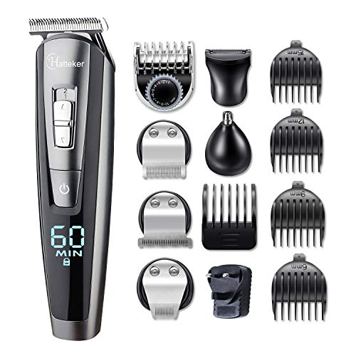 HATTEKER Beard Trimmer for Men C...