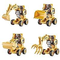 jinclonder Toy Excavator, Inertial Construction Vehicle Deformation Engineering Toy Model Truck Excavator for Kids, Children Hands and Feet Coordinating Exercise