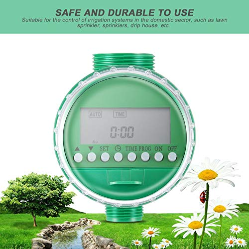 NHUAIYINSHUGUOGUANGGAOJINGY LCD-Display Automatische intelligente elektronische Wasser-Timer Gummidichtung Design Magnetventil Bewässerungs-Sprinkler-Controller - Grün