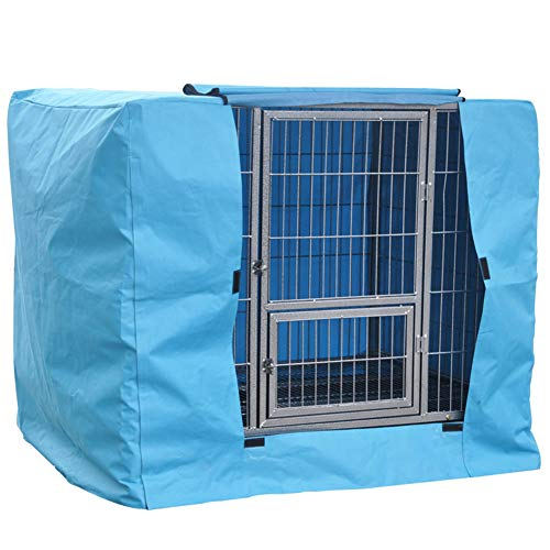 LDIW Cubierta para Jaula de Perrode Tela 600D Oxford Cubiertas de Perrera aptas para Interiores/Exteriores Protectores de Jaula para Perros,Azul,64x46x57cm