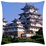himeji castle japan - Throw Pillow Cover Case (16