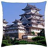 himeji castle japan - Throw Pillow Cover Case (16