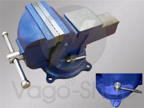 """Schraubstock Parallel 125 mm 5\"""" drehbar 360° für Werkbank Amboss Drehteller BLAU"""