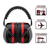 Gehörschutz für Kinder und Erwachsene, Uten Ohrenschützer SNR 32dB, Kapselgehörschützer mit verstellbarem Kopfbügel