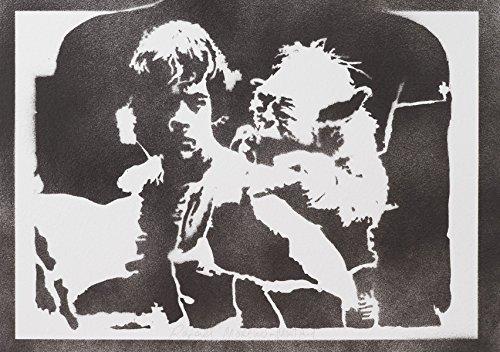 Kostüme Master (Luke Skywalker Und Yoda STAR WARS Handmade Street Art - Artwork -)