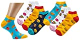Jungen Mädchen Kids Damen Socken Strümpfe Sneaker Motiv Fast Food 3 er Pack Größe 35-38