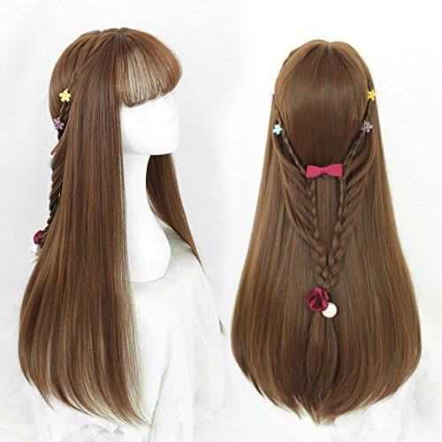XNWP-Aria micro-pulsante volume curl Liu Qi faccia Haixiu bangs wig
