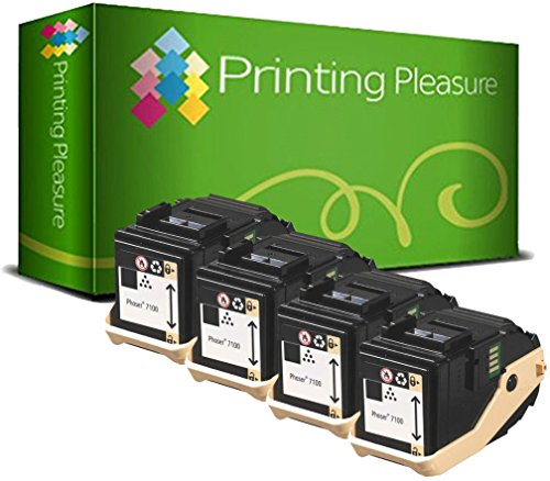 4 Toner kompatibel für Xerox Phaser 7100 7100N 7100DN 7100V/N 7100V/DN - Schwarz, hohe Kapazität (5.000 Seiten) -