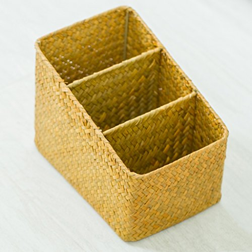 BBYE Main-tissé Rotin Boîte De Rangement Pastorale / Salle De Séjour Bureau Télécommande De Finition Box / Multi-fonctionnelle Boîte De Rangement