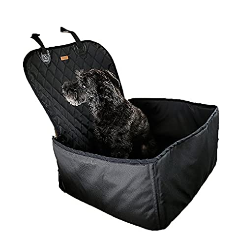 Pet Hund Auto Front Seat Matte Wasserdicht Atmungsaktiv Safety Car Sicherheitsgurt Bezug Booster Bag Pet Carrier Reisen Auto-Kissen für Hund Katze Haustier, Universal für alle Autos, Lkws, SUV (für Front (Hund Pet Carrier)
