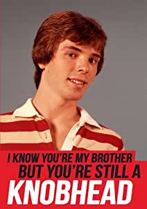 Knobhead Brother Funny Birthday Card