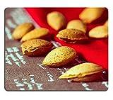 Luxlady caucho Natural Gaming Mousepads estilo Vintage mezcla de frutos secos en marrón (imagen ID 26458392