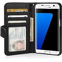 Etui Samsung Galaxy S7 Edge, Flycool Portefeuille Housse Coque de Protection en Cuir pour Samsung Galaxy S7 Edge