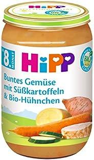 HiPP Buntes Gemüse mit Süßkartoffeln und Bio-Hühnchen, 6er Pack (6 x 220 g)