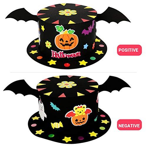 Cappello da strega per bambini fascia per capelli cappello di halloween fai da te cappelli di carta cappello da festa kit artigianale fatto a mano decorazione di halloween forniture per bambini