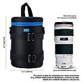 PROfoto.Trend/JJC 113 x 215mm Resistente al Agua Deluxe Funda para Objetivo con Correa [Ver Descripción para Compatibilidad Objetivo]