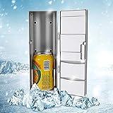ShowkingL Mini frigorifero USB portatile, riscaldamento e raffreddamento di due in uno, frigorifero PC, bevande, Medizin Cold & Warm Box