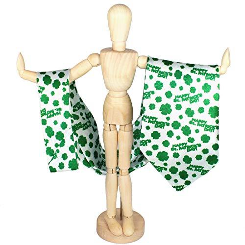 Broschen Irland Kostüm - Magiböes Herren Grüne St Patrick Necktie Kleeblatt Krawatten Glückliche Kleeblatt-Krawatten St Patrick Grüne Kleeblatt-Krawatte Krawatten, 2PCs Pattern4 One Size