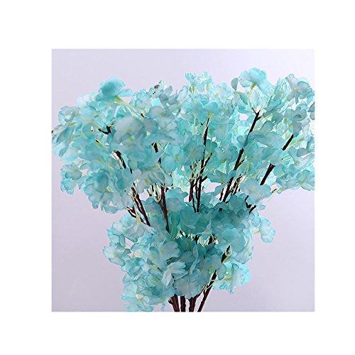 Binglinghua Künstliche Cherry Blossom Zweige Blumen Seide Pfirsich Blumen Arrangements für Home Hochzeit Dekoration
