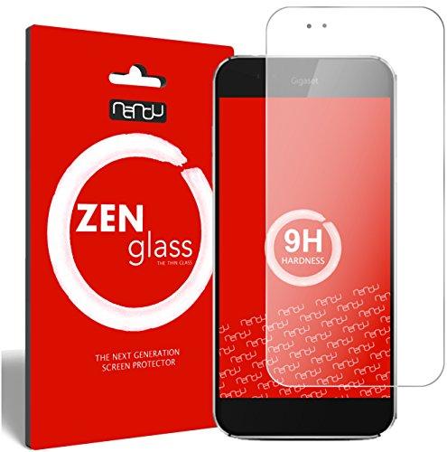 nandu I ZenGlass Flexible Glas-Folie für Gigaset ME Pro Panzerfolie I Bildschirm-Schutzfolie 9H I (Kleiner Als Das Gewölbte Bildschirm)