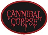 CANNIBAL CORPSE LOGO, Officially Licensed Original Artwork, High Quality Iron-On / Sew-On, 4.25 x 3 Embroidered PATCH Fl