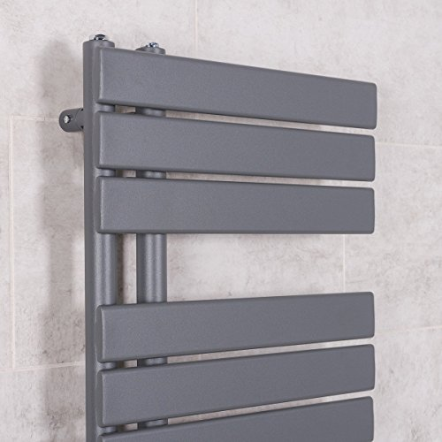 Designer Handtuchheizkörper Badheizkörper 1380x500mm Grau - 2