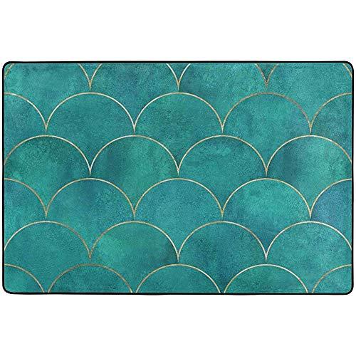 If Not Teppichbereich Teppich Green Scale Pattern Pad für Teppichboden-Pads