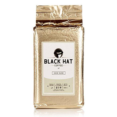 Black Hat Coffee House Blend - mehr als ein Premium-Kaffee - 500g Röstkaffee gemahlen