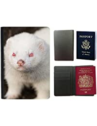 Passeport Voyage Couverture Protector // V00002853 hurón albino // Universal passport leather cover