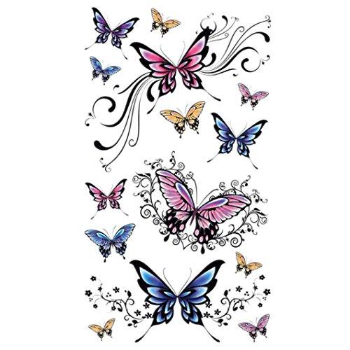 Temporäre Tattoos, Oyedens Neue Art Und Weise Wasserdicht SchöNen Schmetterling Tattoo-Aufkleber (Temporäre Tattoos Für Männer Chinesische)