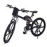 cooshional Bicicletta elettrica pieghevole Mountain bike cerchi a...