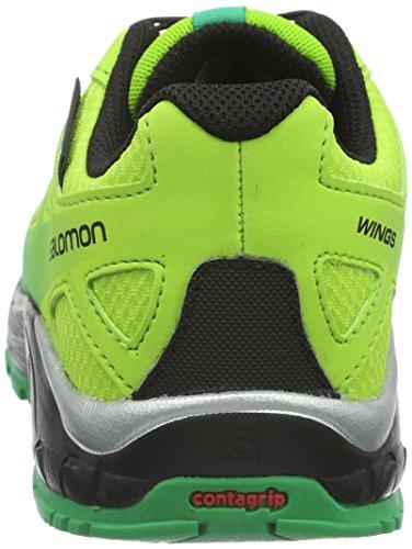 Salomon Wings Cswp, Chaussures de Running Entrainement Mixte Enfant Vert (Granny Green/Black/Real Green)